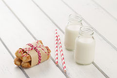 Puff pastry twists sprinkled Stock Images
