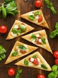 Puff-pizza royaltyfri fotografi