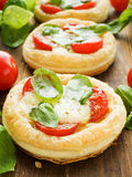 Puff-pizzas Stock Image