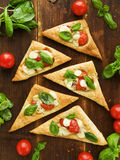 Puff-pizzas Royalty Free Stock Photography