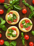 Puff-pizzas Stock Photo