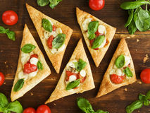 Puff-pizzas Royalty Free Stock Photos