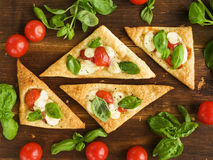Puff-pizzas Stock Photography