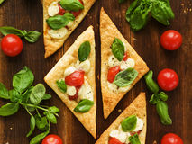 Puff-pizzas Stock Images