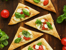 Puff-pizzas Royalty Free Stock Image