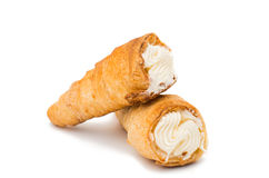 Puff rolls with cream Royalty Free Stock Photos