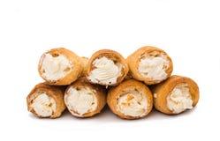 Puff rolls with cream Stock Image