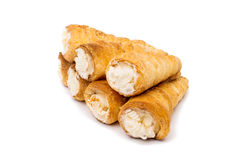 Puff rolls with cream Stock Photography