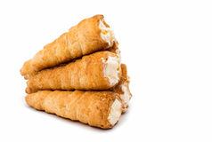 Puff rolls with cream Royalty Free Stock Photo
