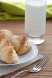Puffbakelse och exponeringsglas mjölkar Arkivbilder