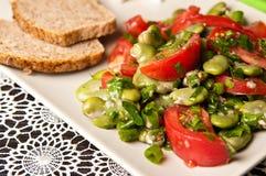 Puffbohnesalat-Lebensmittelphotographie Stockfotografie