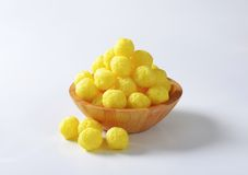 Puffed cereal balls Royalty Free Stock Image
