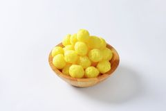 Puffed cereal balls Stock Photos
