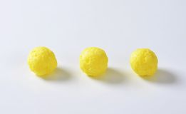 Puffed cereal balls Royalty Free Stock Images