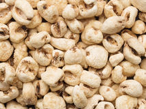 Puffed corn snack food background Stock Images