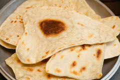 Puffed Indian bread puri Royalty Free Stock Image