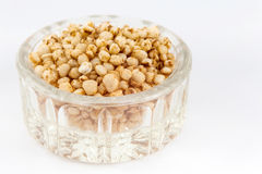Puffed quinoa seeds Chenopodium quinoa Royalty Free Stock Image