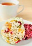 Puffed rice cakes Stock Photo
