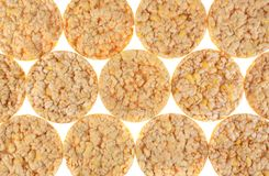 Puffed rice cakes Stock Photos