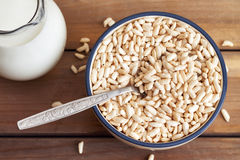 Puffed rice cereal Royalty Free Stock Image