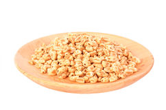 Puffed rice isolated on a white background Stock Photography