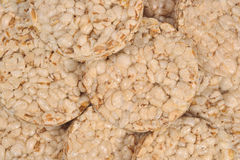 Puffed rice snack close up Royalty Free Stock Image