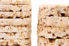 Puffed rice snacks. Royalty Free Stock Photo