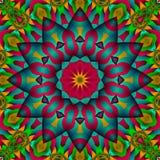 Puffed satin star flower vector illustration