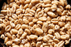 Puffed wheat Royalty Free Stock Images