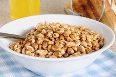 Puffed Wheat Cereal Stock Image