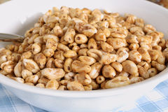 Puffed Wheat Cereal Royalty Free Stock Photos