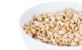Puffed wheat (isolated on white) Stock Photo