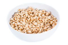 Puffed wheat (isolated on white) Stock Photos