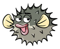 Puffer fish with silly face. Illustration Royalty Free Stock Image
