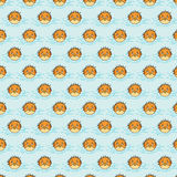 Puffer pattern on azure background Royalty Free Stock Photo