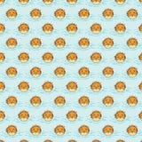Puffer pattern on azure background Royalty Free Stock Photo