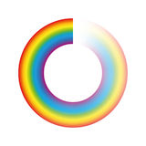 Pufferbetriebs-Kreis-Regenbogen-Farben Lizenzfreie Stockfotos