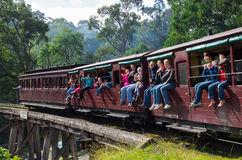Puffing Billy steam train in the Dandenong Ranges Stock Photography