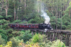 Puffing Billy Steam Train In The Dandenong Ranges Stock Image