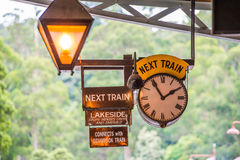 Puffing Billy Train Timetable stock image