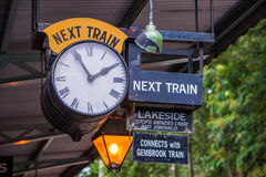 Puffing Billy Train Timetable royalty free stock photography