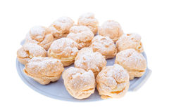 Puffs on blue plateau Royalty Free Stock Image