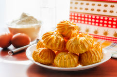 Puffs in a plate Royalty Free Stock Images