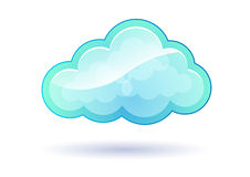 Puffy Blue Modern Cloud. Floating puffy blue modern cloud vector image Stock Photography