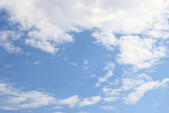 Puffy cloud on the blue sky Stock Photo