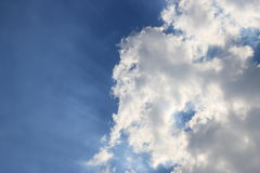 Puffy cloud on the blue sky Royalty Free Stock Photos