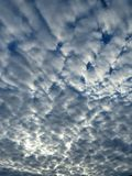 Puffy Cloud Formation. Layers of big puffy cloud formations in the blue sky Royalty Free Stock Images