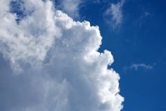 PUFFY CLOUD WITH WHITE LIGHT ON EDGE Stock Photos