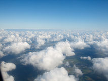 Puffy clouds. Blue sky and puffy clouds Stock Image