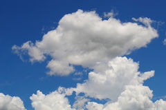 Puffy Clouds. On a hot summer day Royalty Free Stock Photo